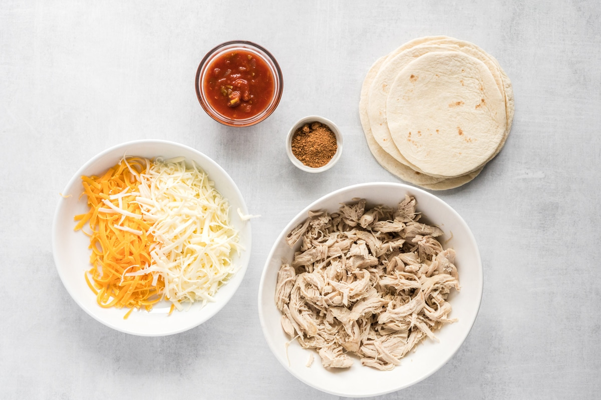 ingredients for chicken taquitos