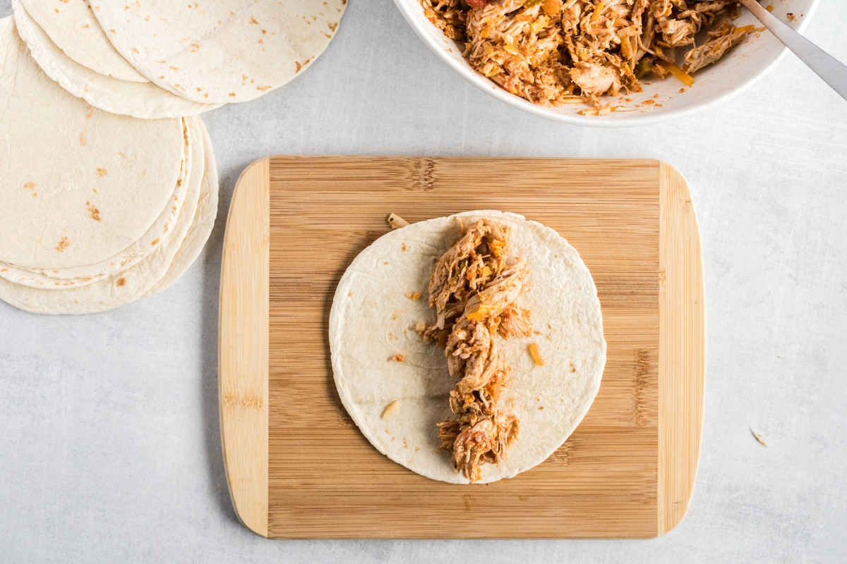 how to stuff chicken taquitos