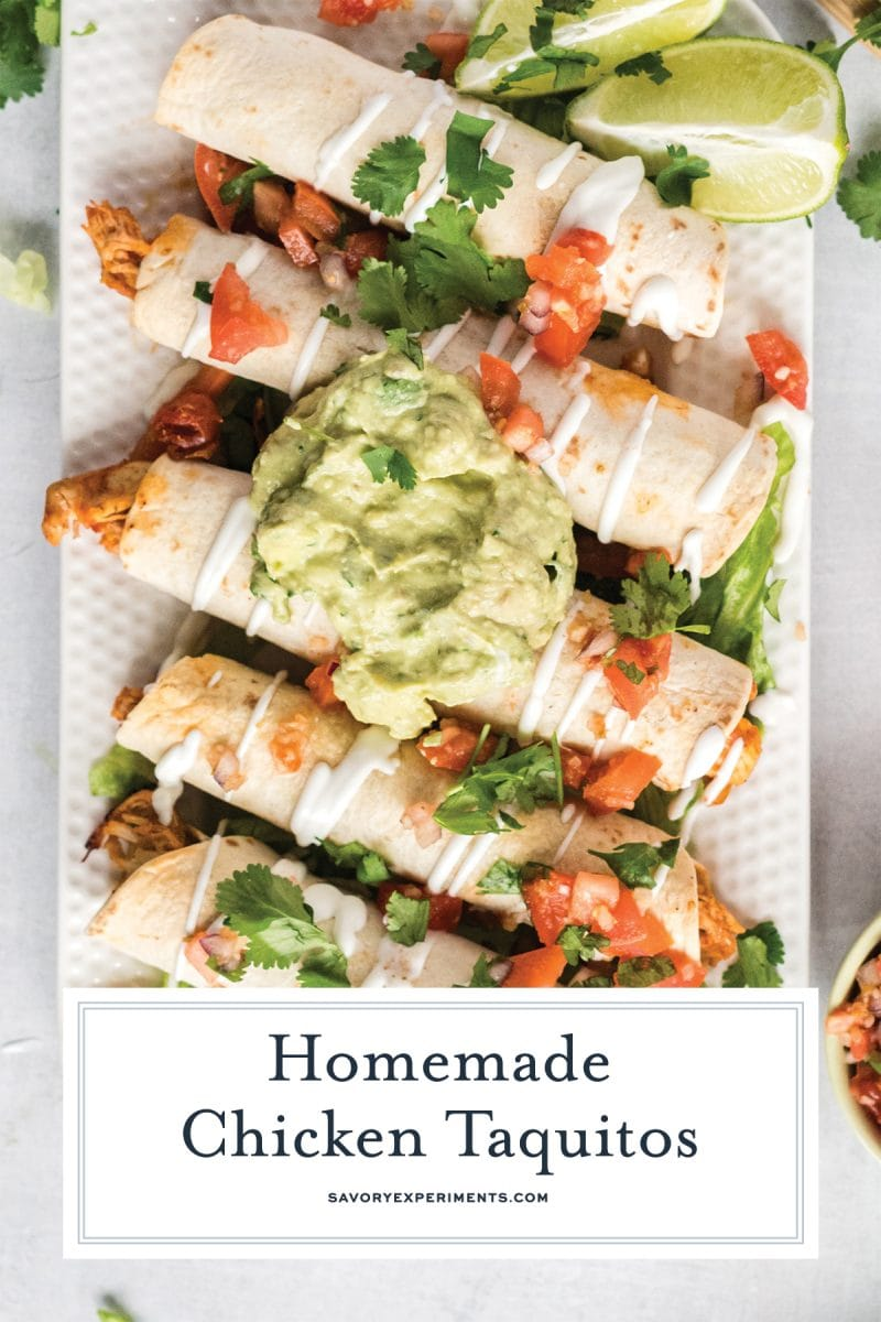 baked chicken taquitos for pinterest