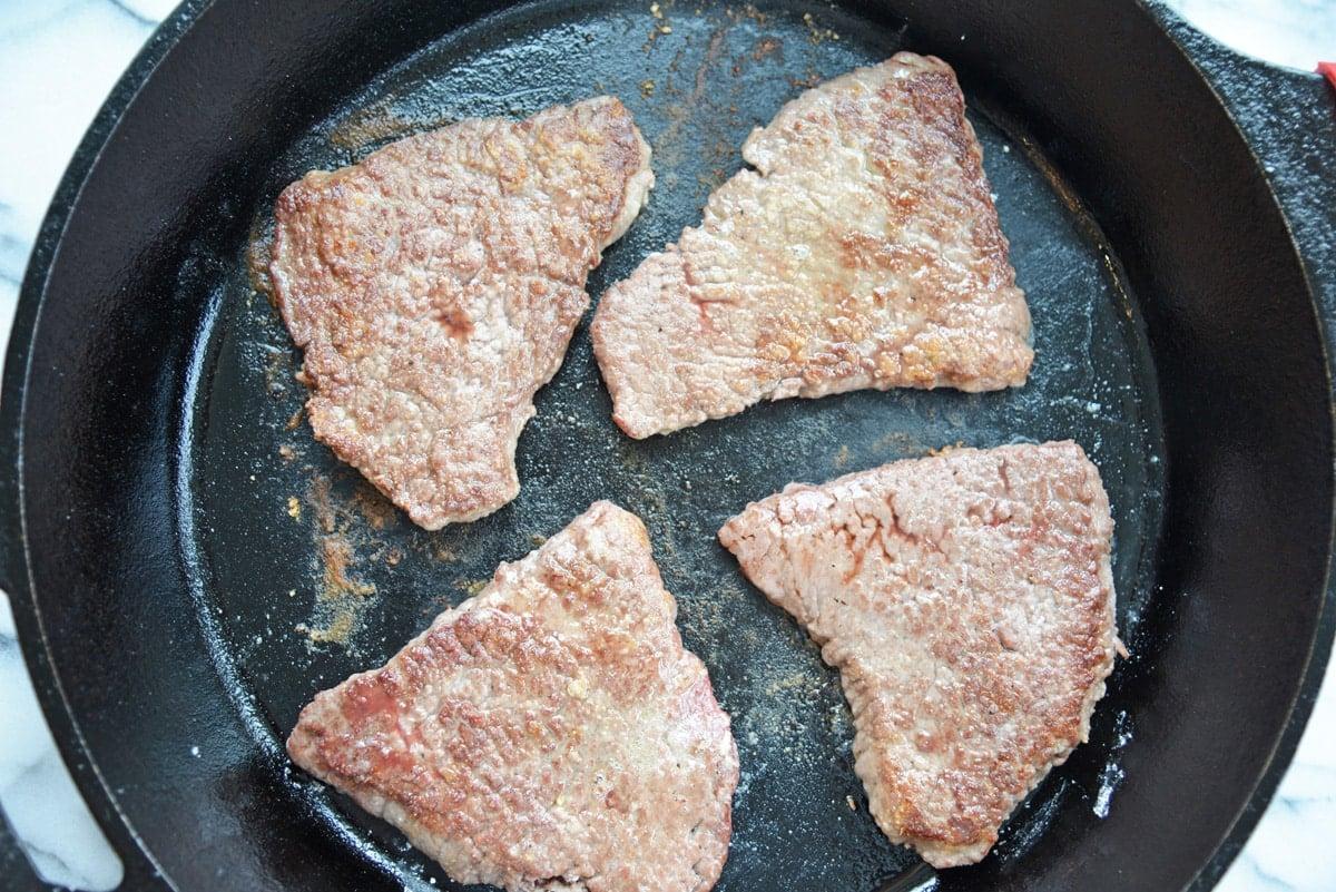 frying steaks in cast iron