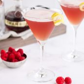french martinis with ingredients