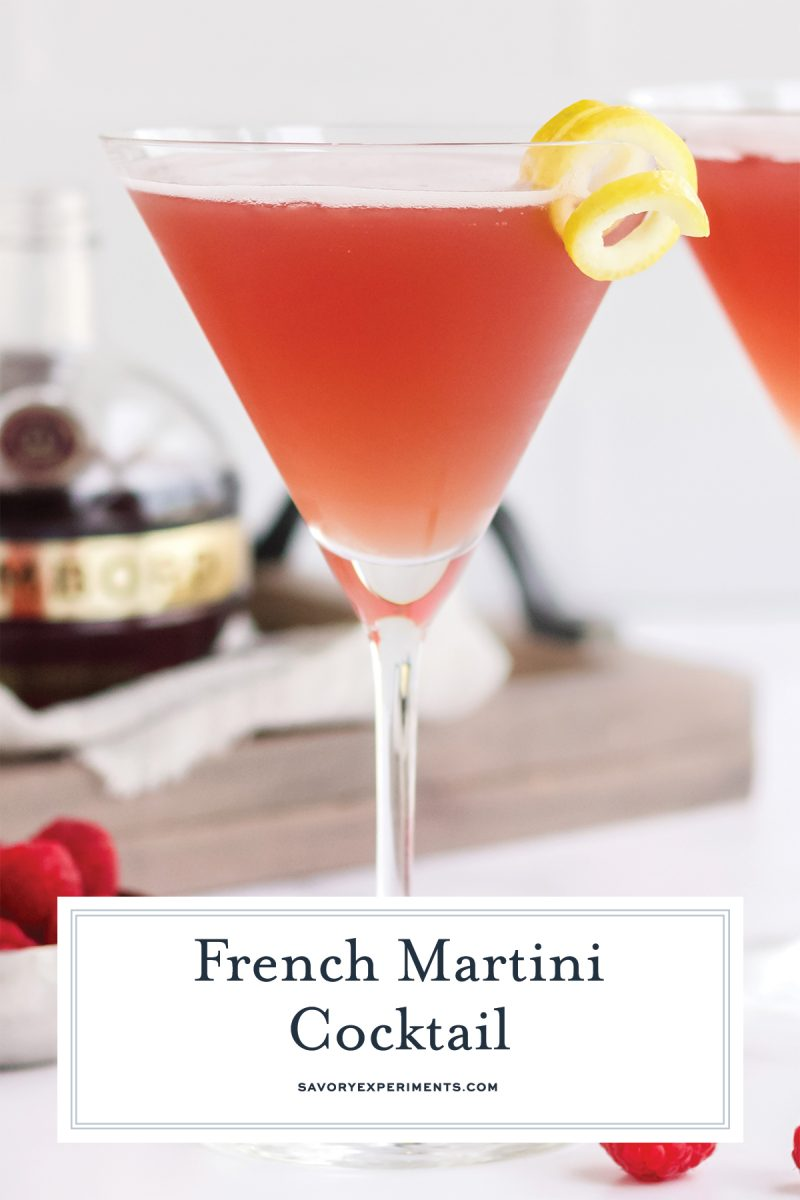 side view of french martini cocktail