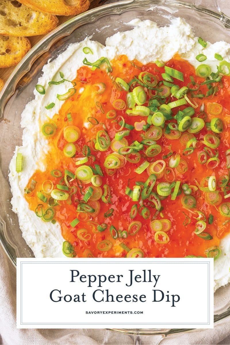 pepper jelly goat cheese dip for pinterest