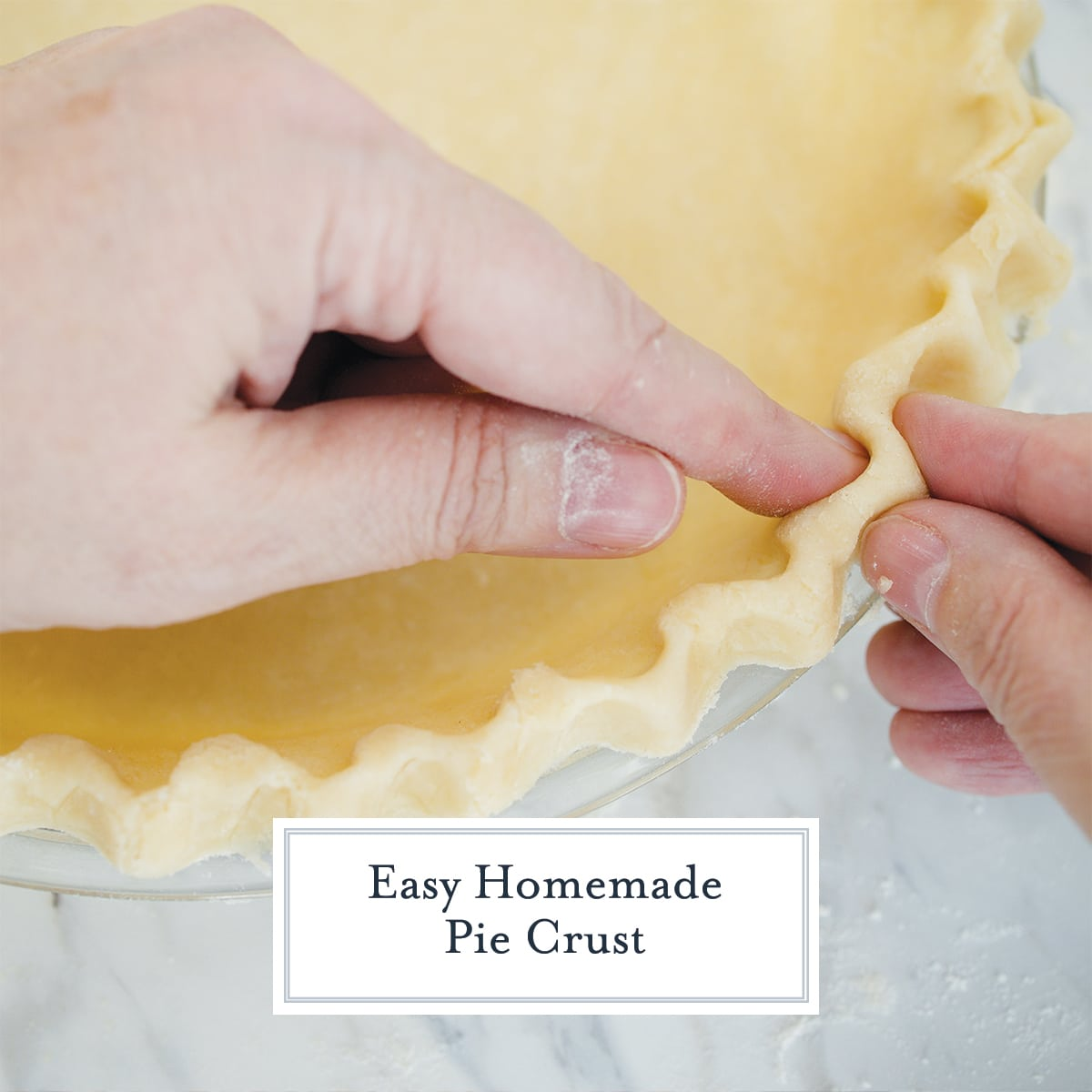 fingers pinching together a pie crust