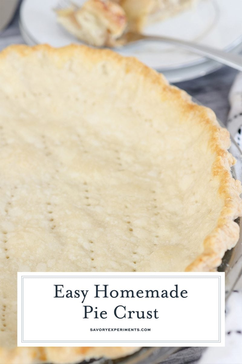 angle of homemade baked pie crust