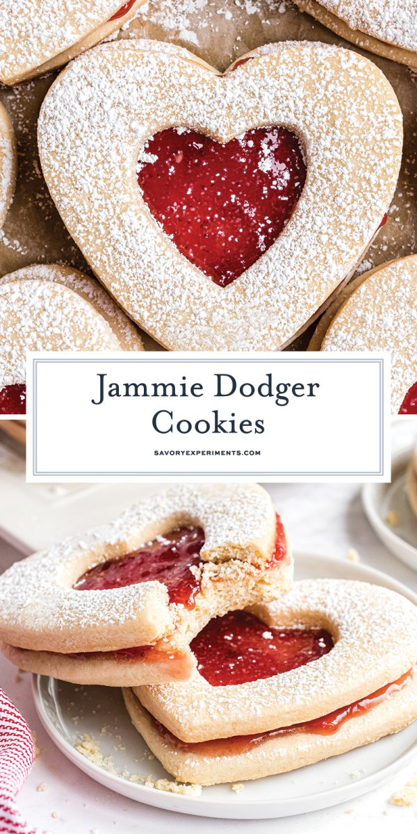 strawberry jammie dodger cookie for pinterest