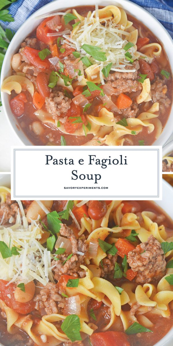 pasta e fagioli soup for pinterest