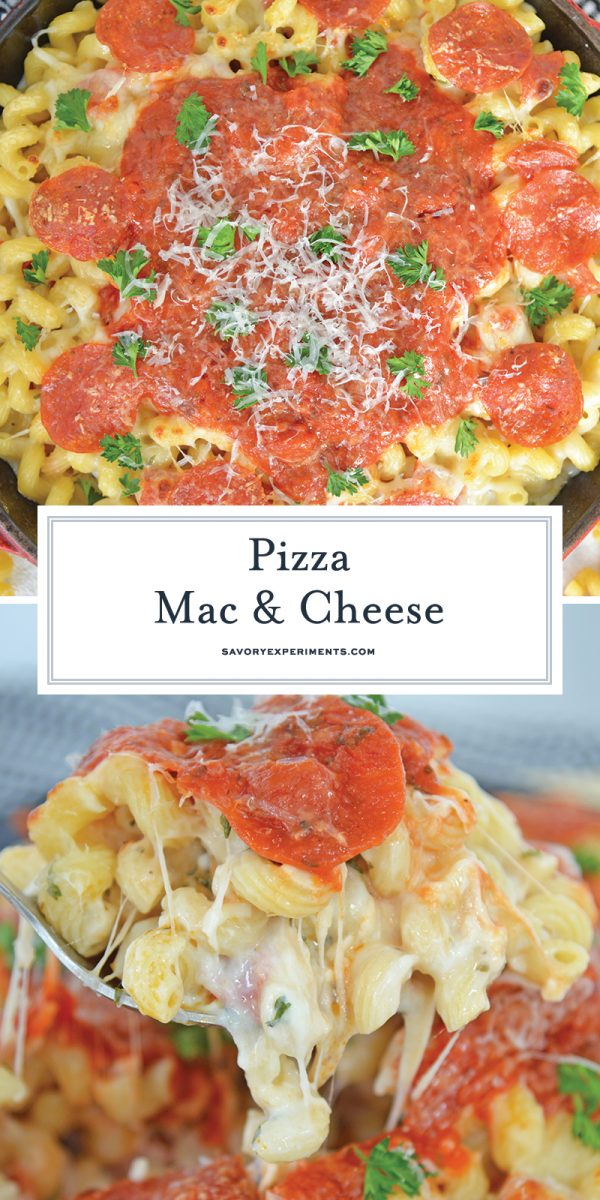 pizza mac and cheese for pinterest
