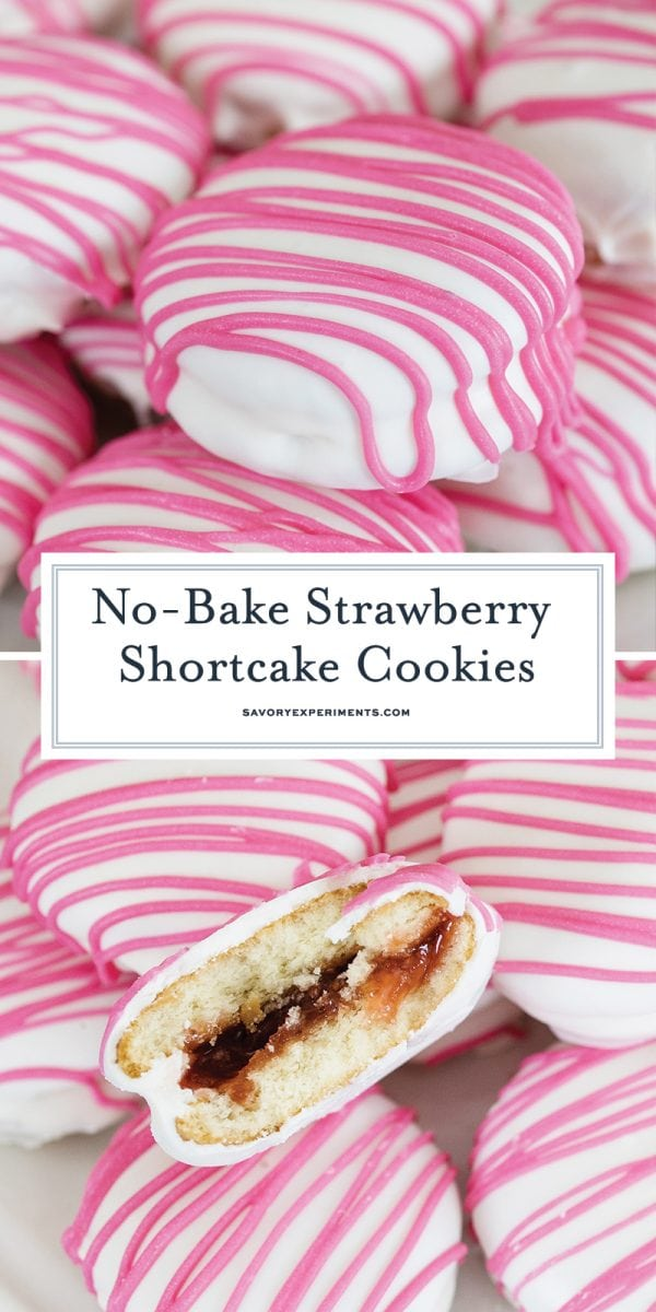 no bake strawberry shortcake cookies for pinterest
