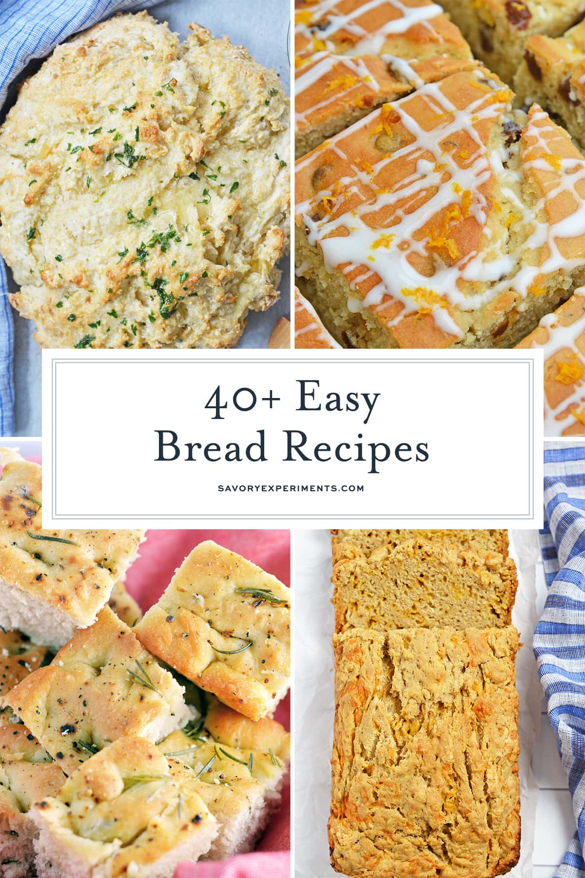 easy bread recipes collage