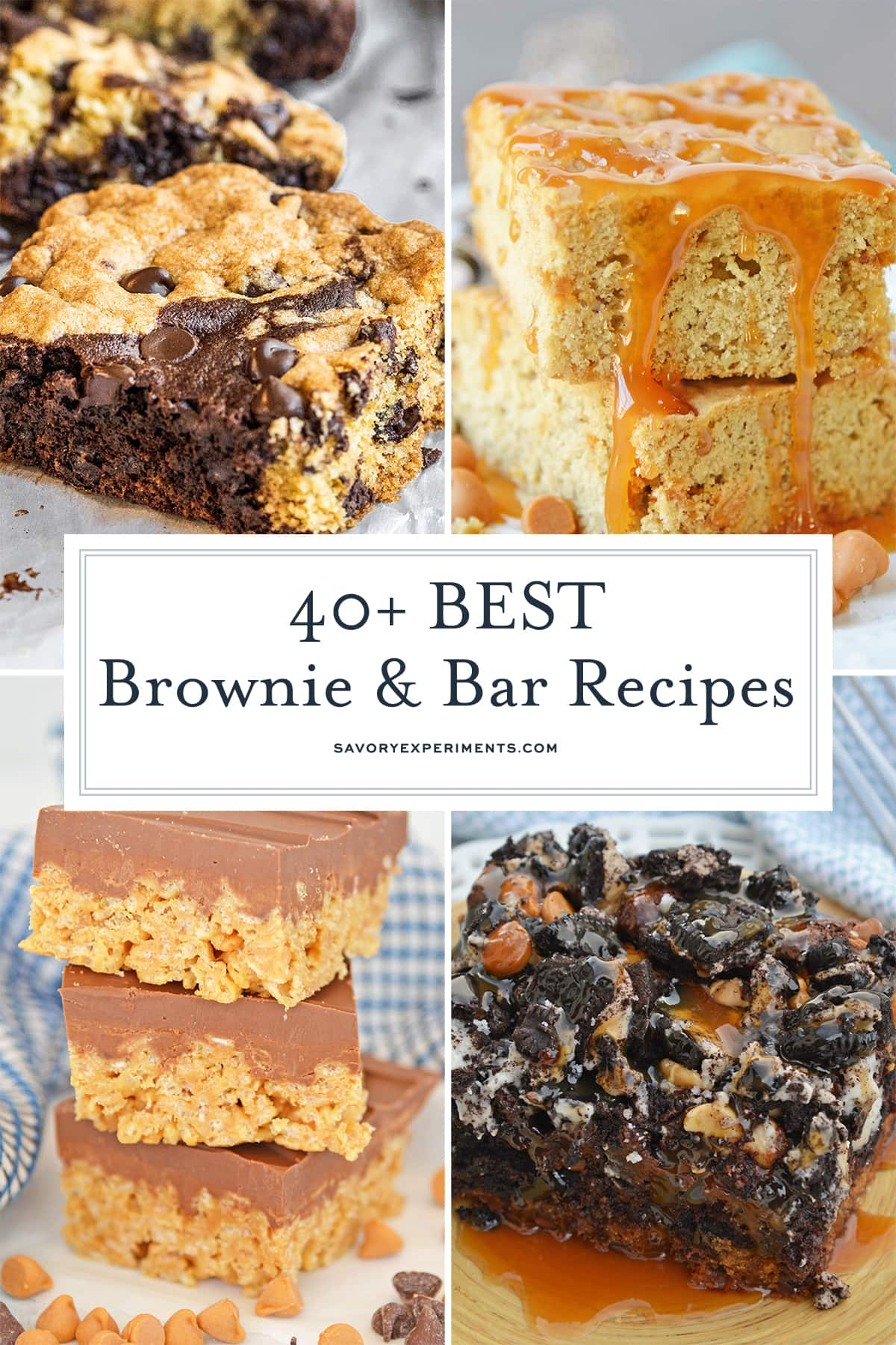collage of brownies and bars for pinterest