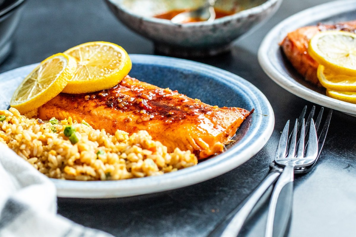 angle of AF salmon recipe