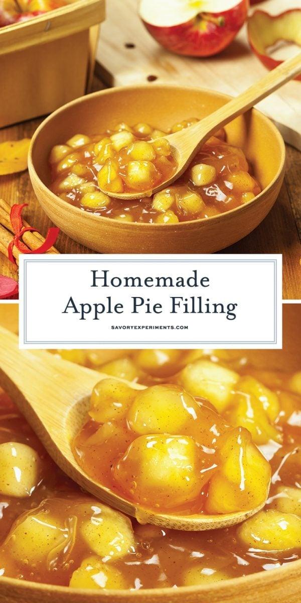 long pin for how to make apple pie filling for pinterest