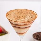 close up of chocolate martini