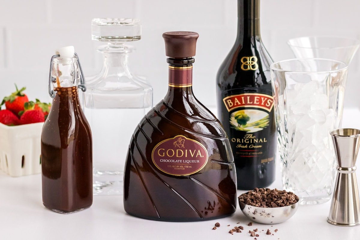 ingredients for chocolate martini
