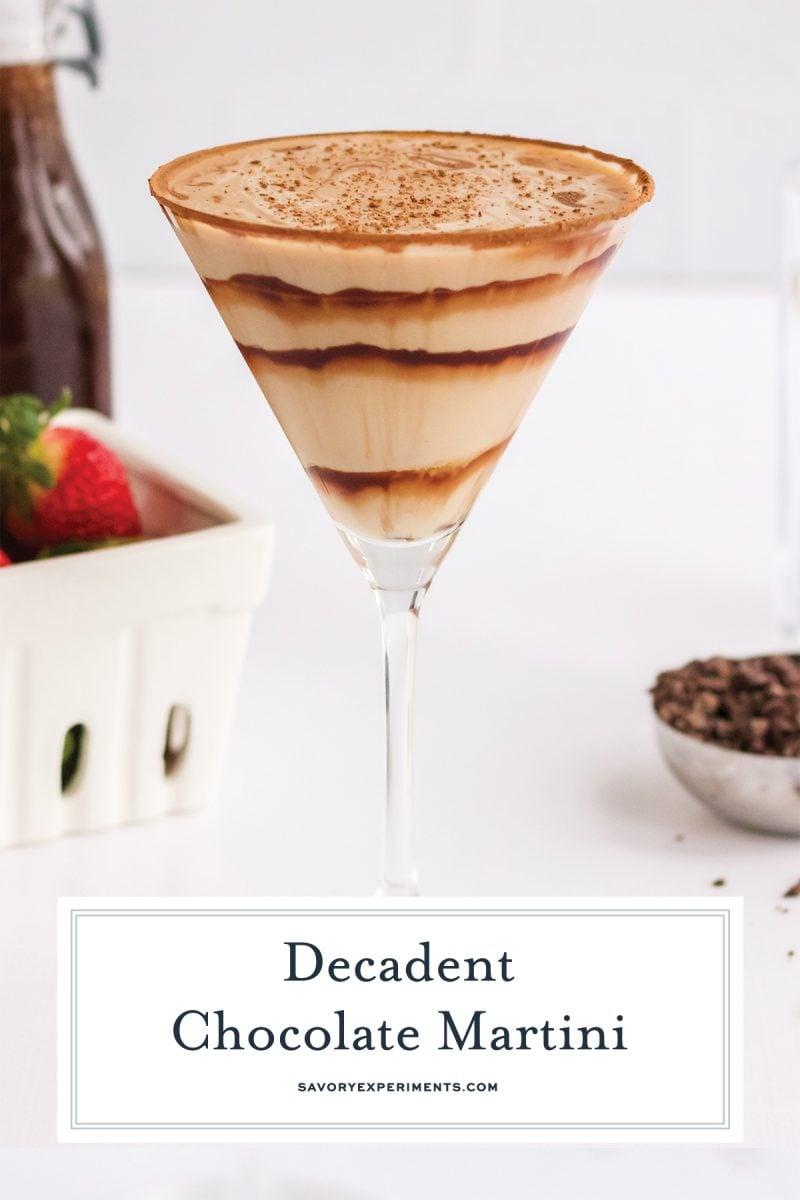 chocolate swirled martini