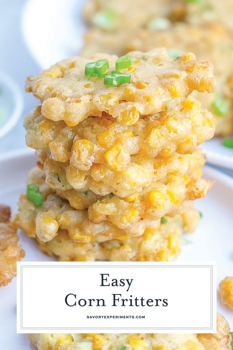 close up of corn fritters