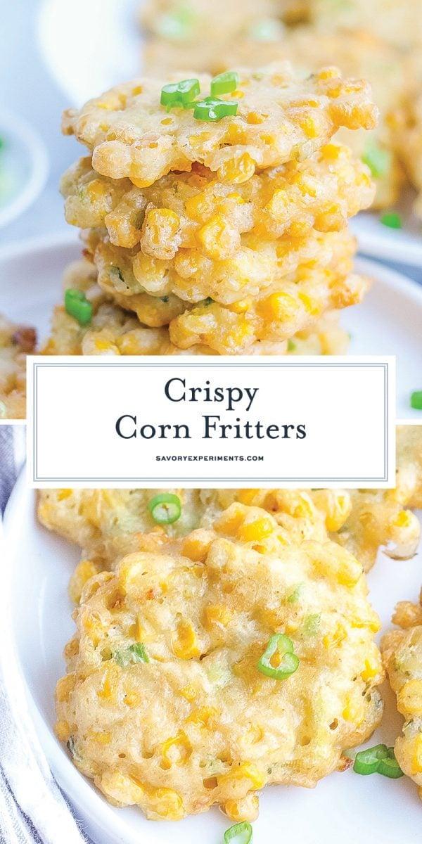 crispy corn fritters for pinterest