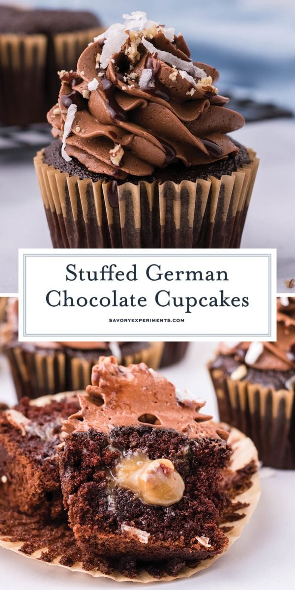 German chocolate cupcakes for pinterest