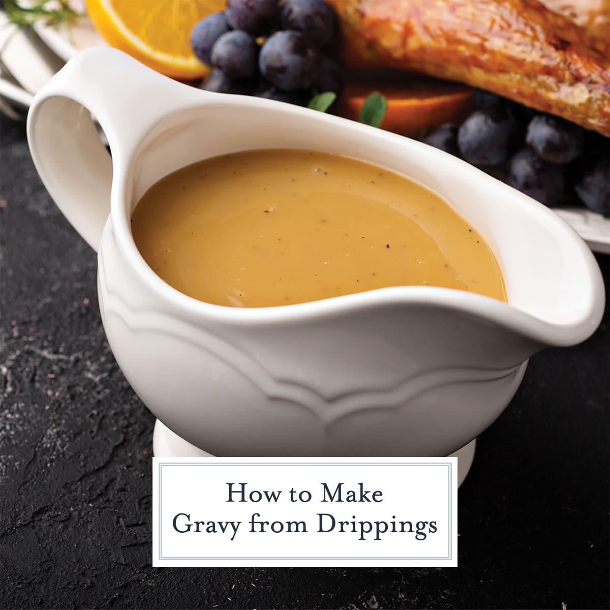 gravy in a gravy boat