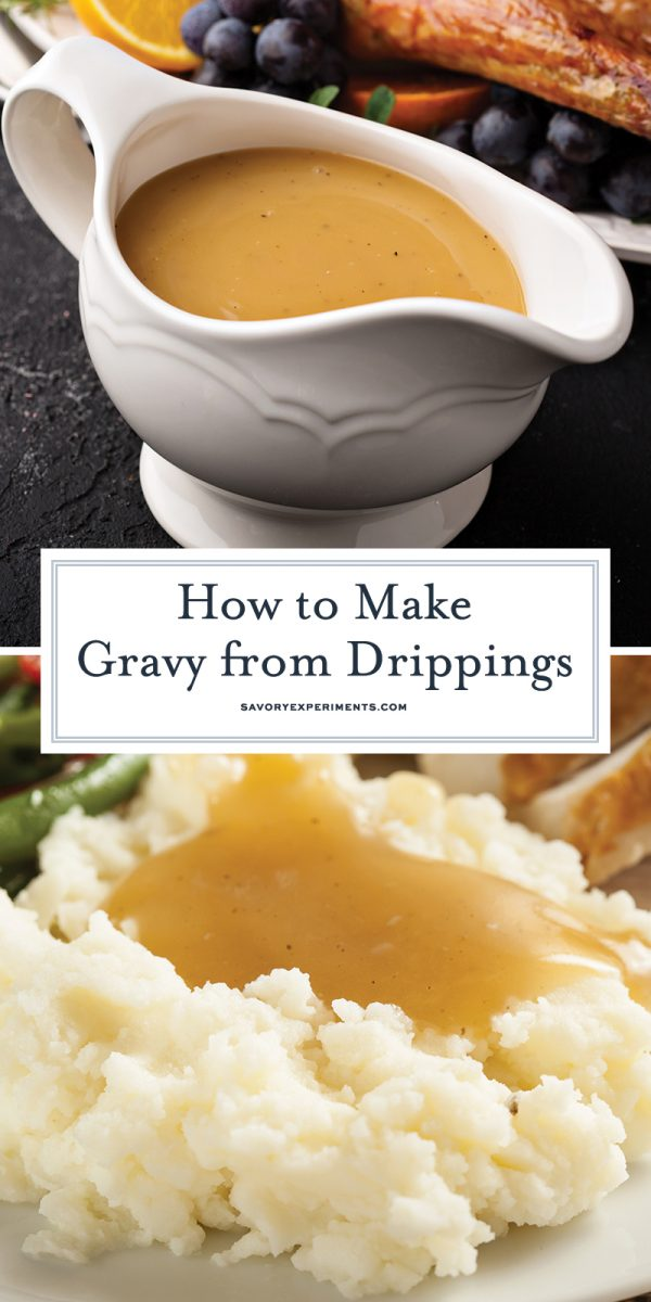how to make gravy from drippings for pinterest