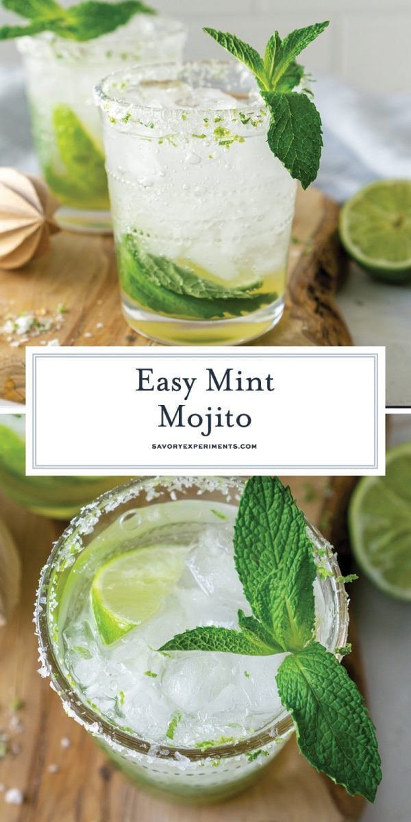 easy mint mojitos for pinterest
