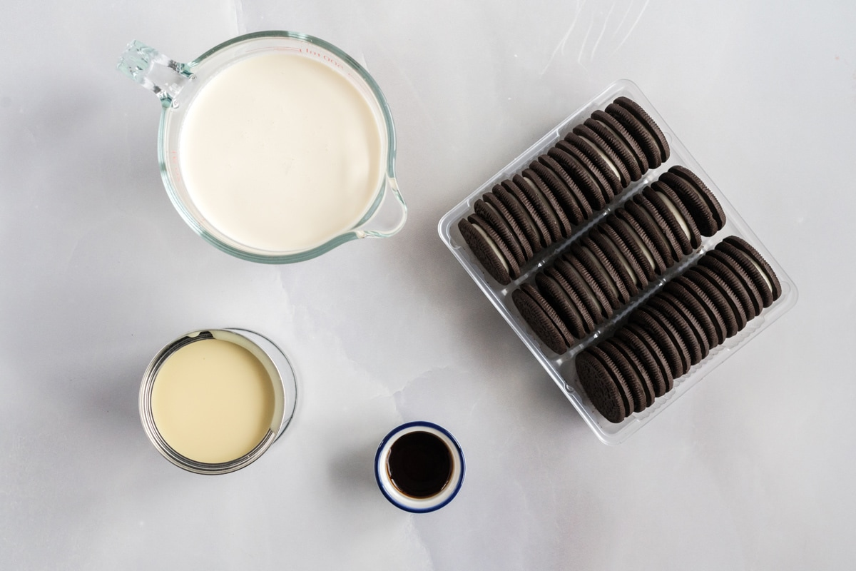 ingredients for no churn oreo ice cream