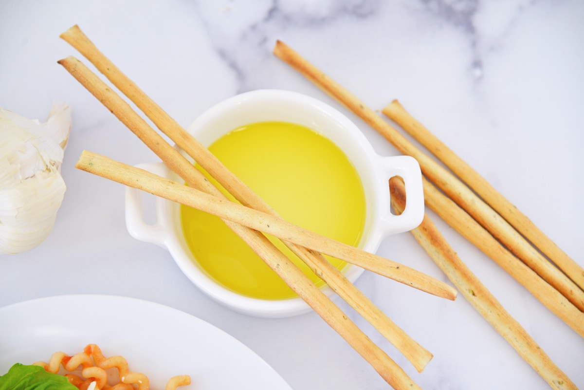 breadsticks with olive oil