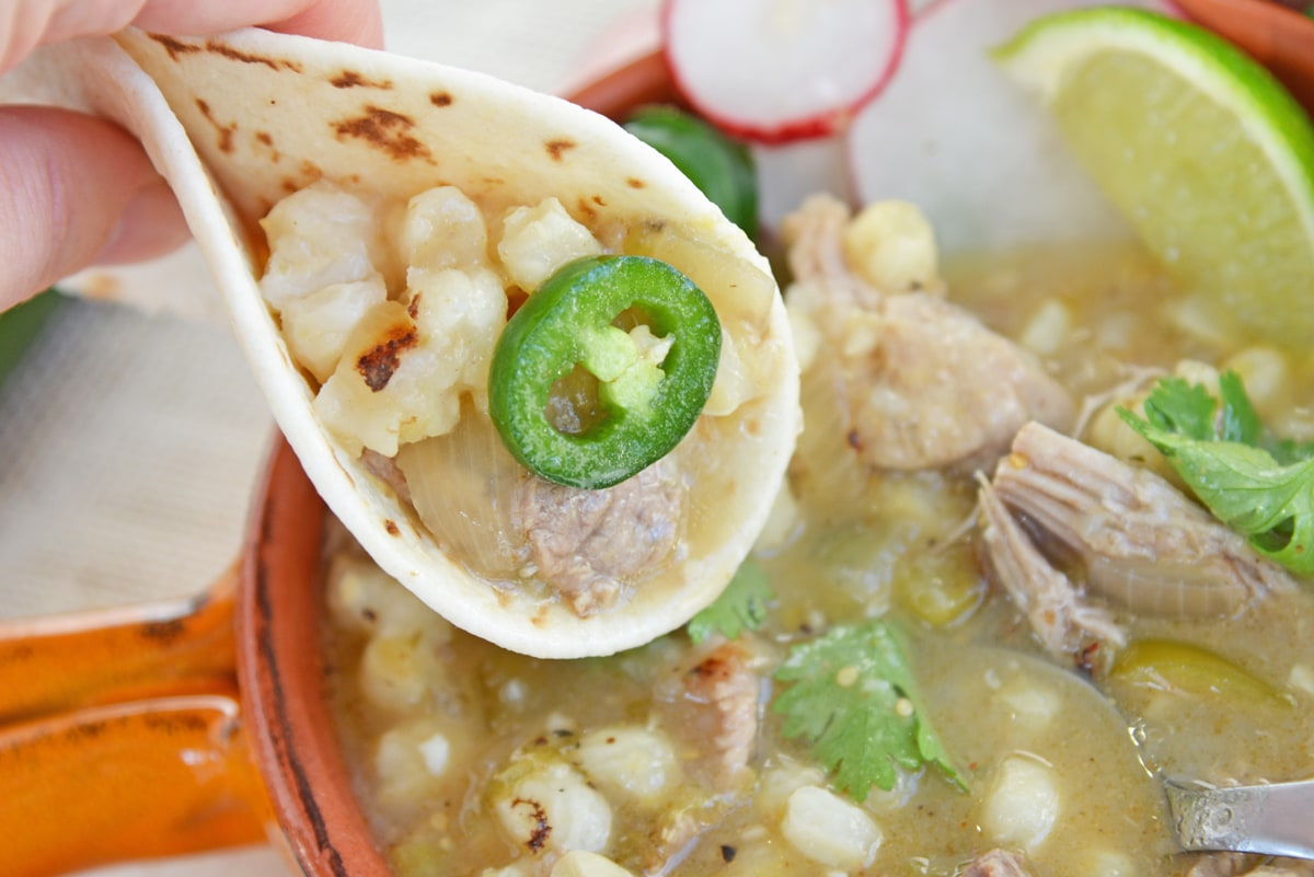 tortilla with pork pozole