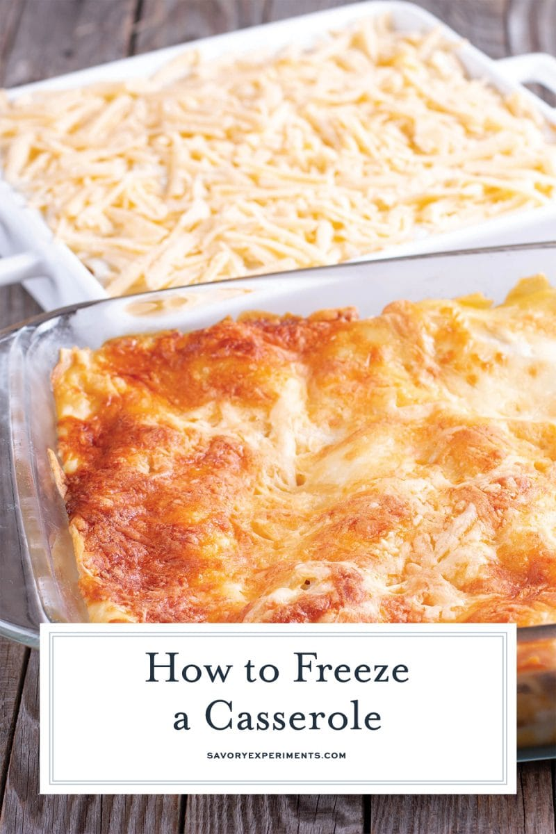 instructions on how to freeze a casserole for pinterest