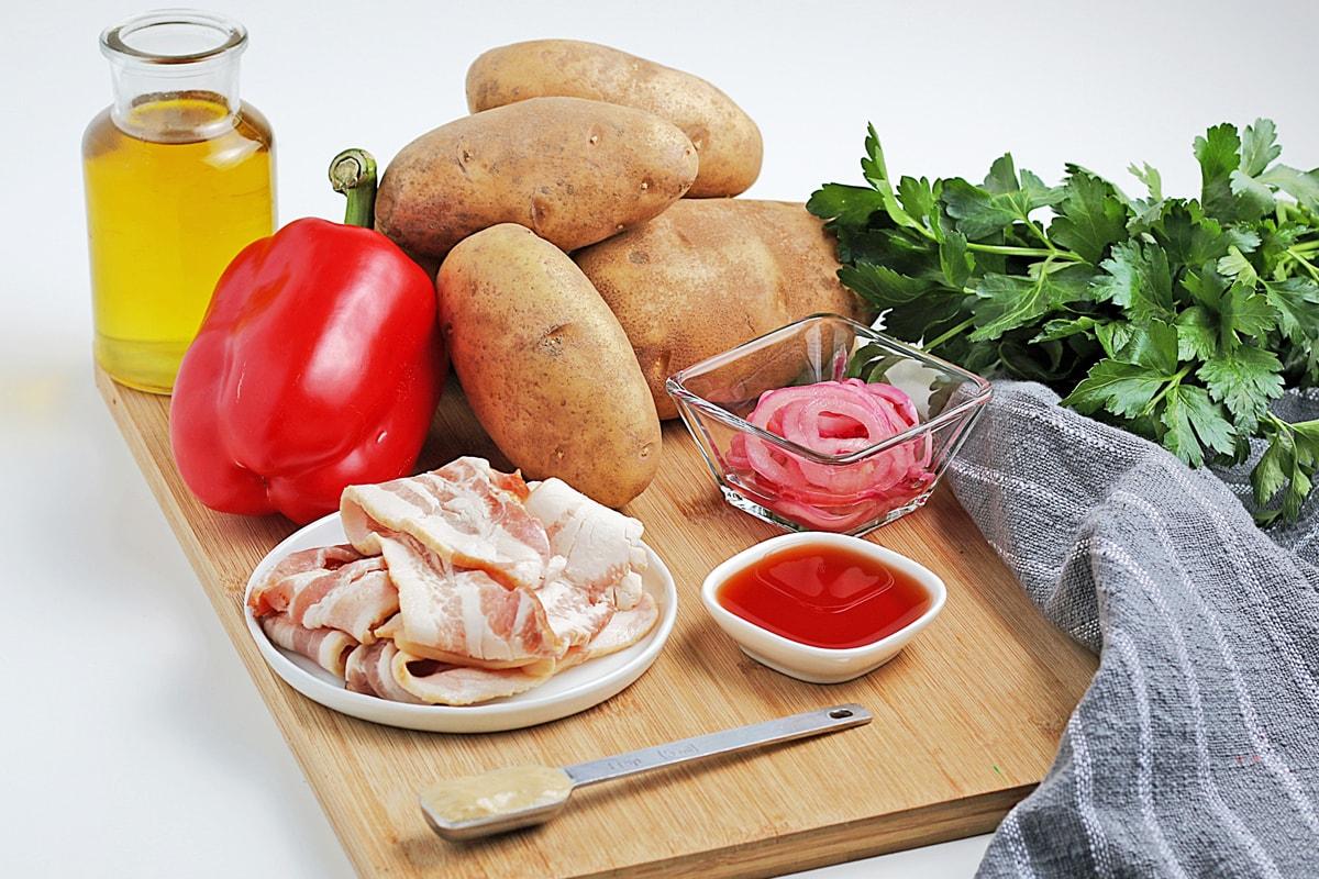 ingredients for mustard potato salad