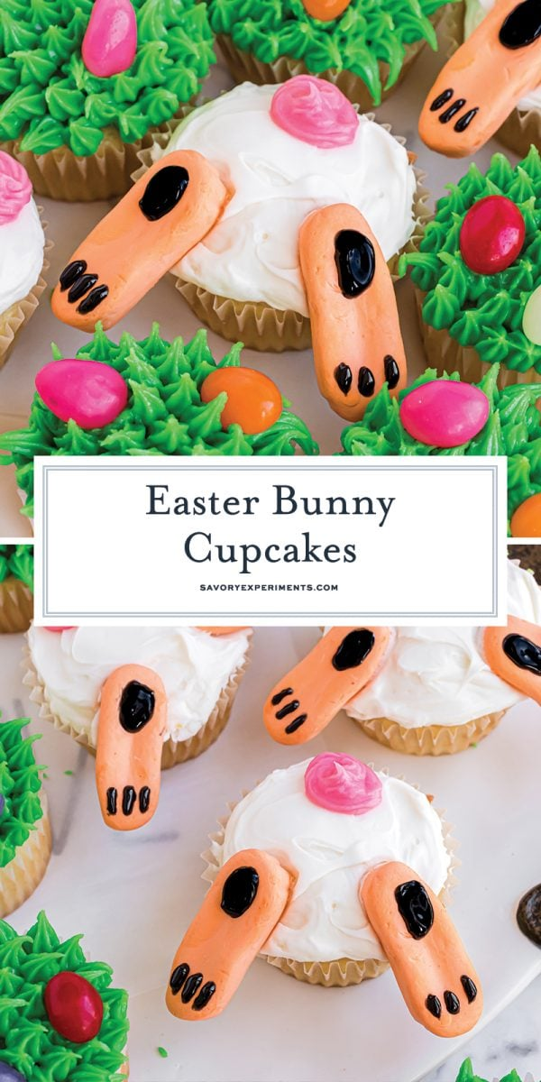 easter bunny cupcakes for pinterest