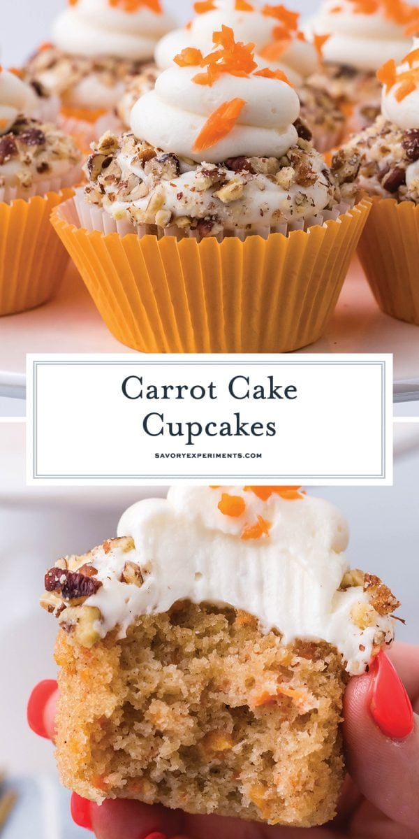 carrot cake cupcakes with cream cheese frosting for pinterest