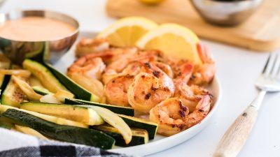 hibachi shrimp on a plate