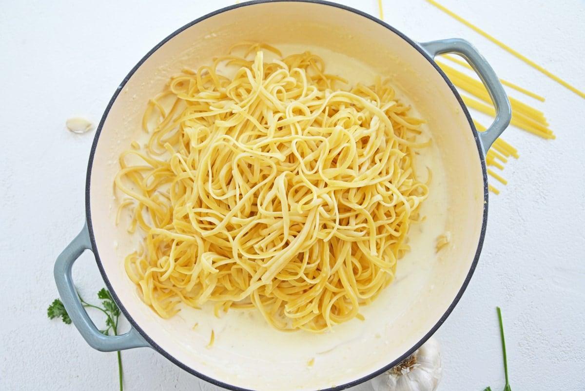 pasta in a cream sauce