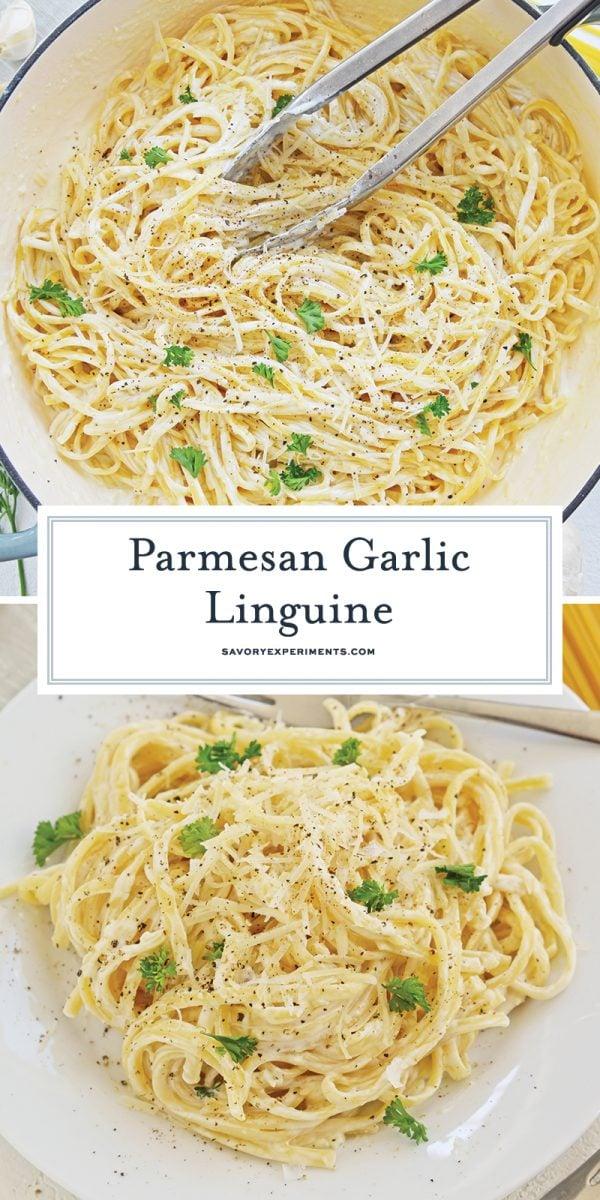 parmesan garlic linguine for pinterest