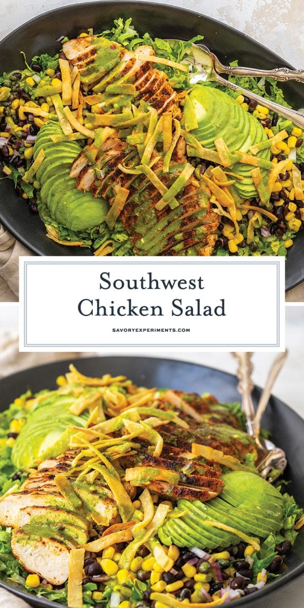 southwest chicken salad for pinterest