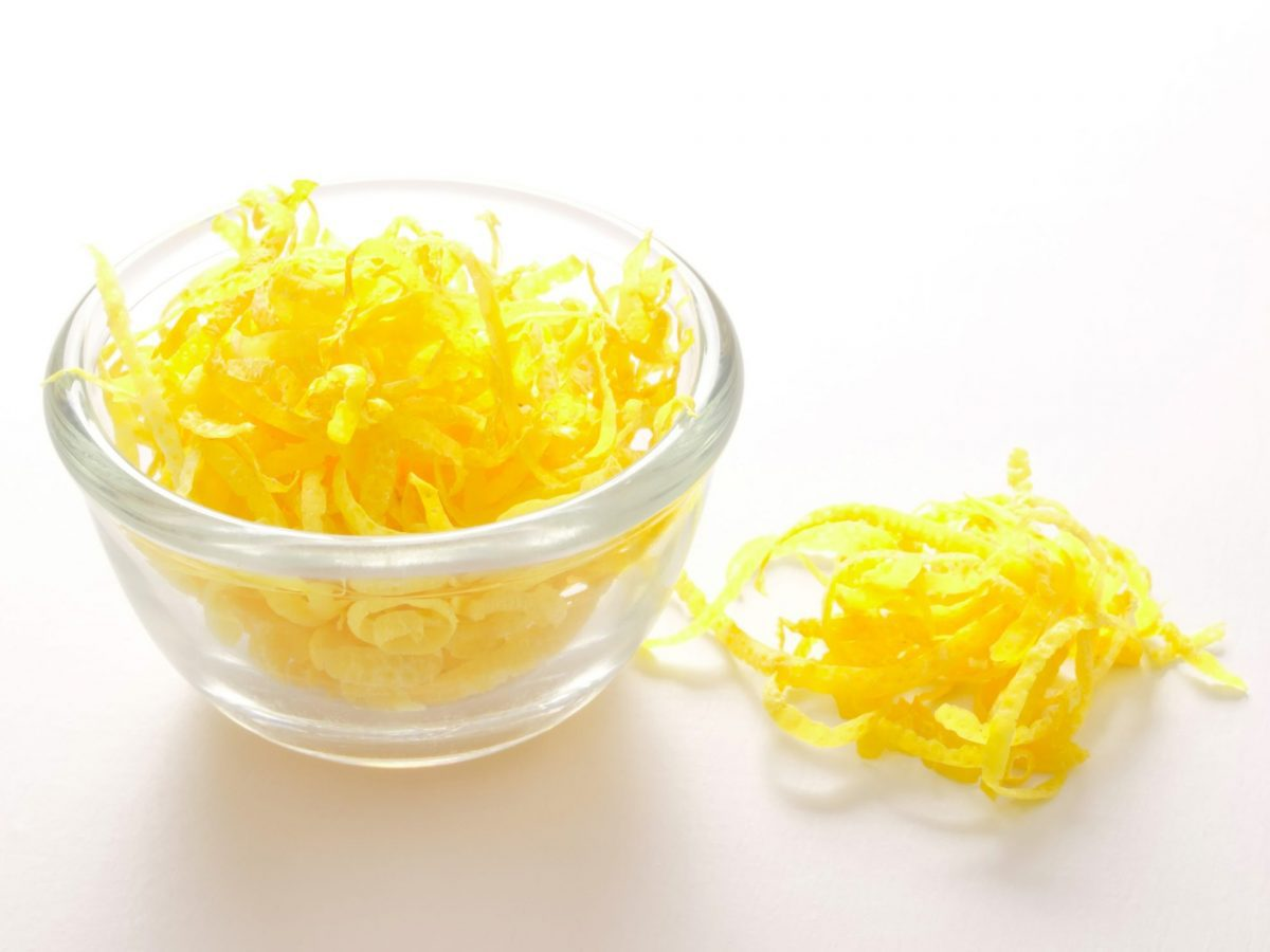 image of fresh lemon zest