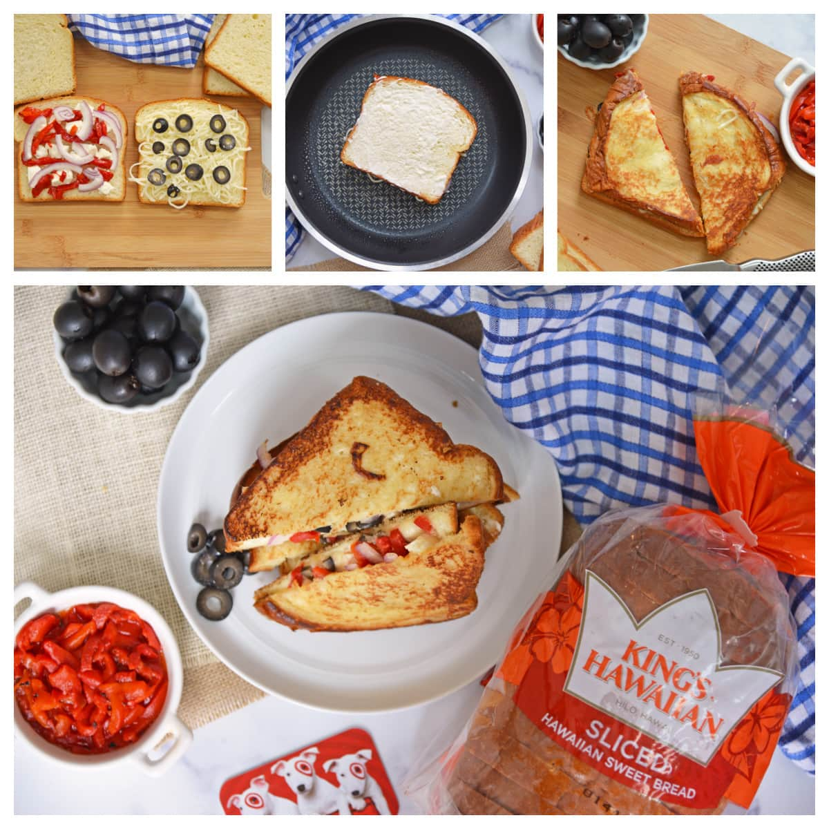 how to make a greek grilled cheese melt