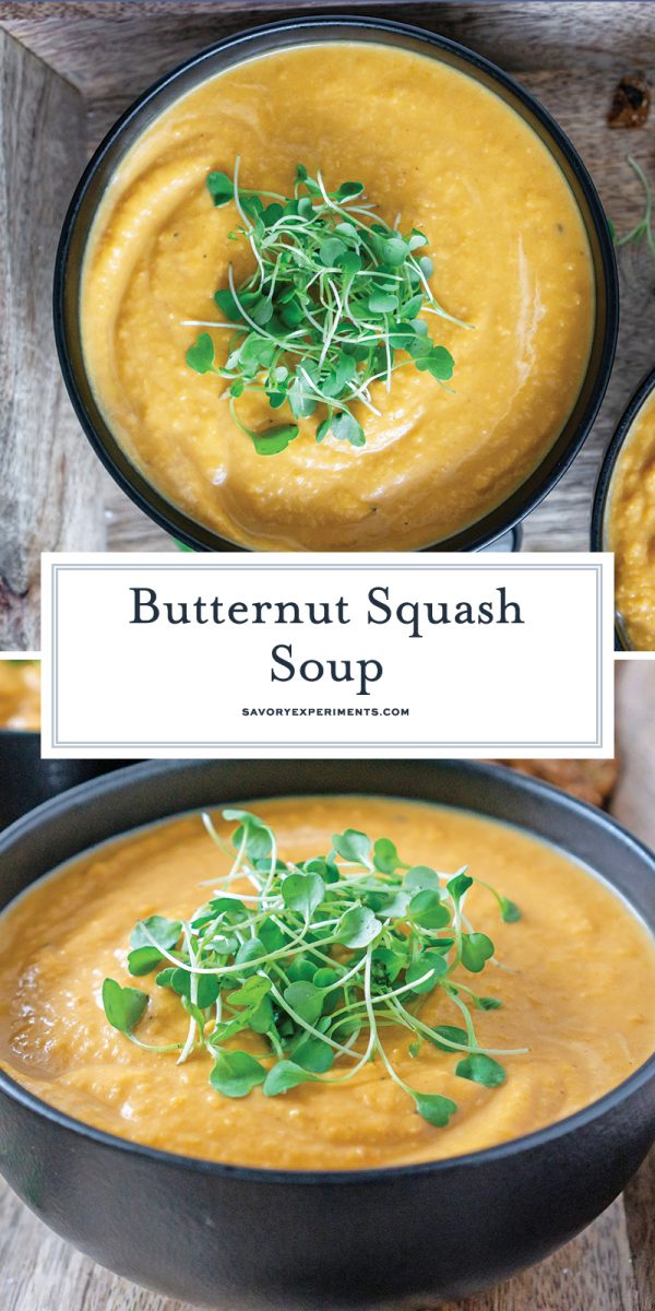 butternut squash soup for pinterest