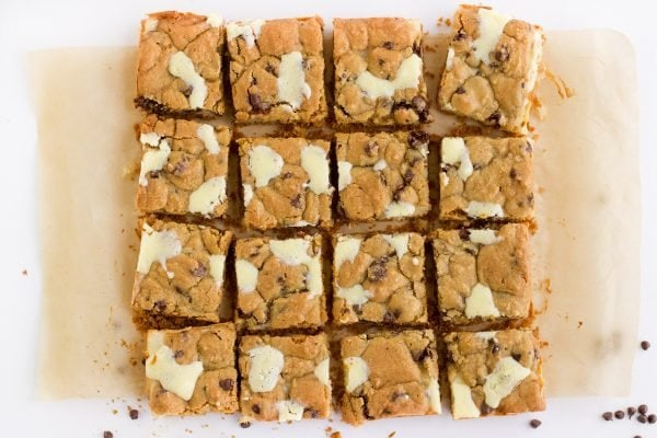 sliced cookie bars