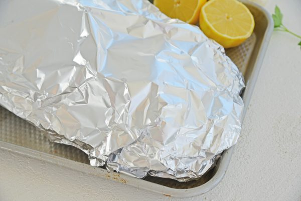 salmon wrapped in foil