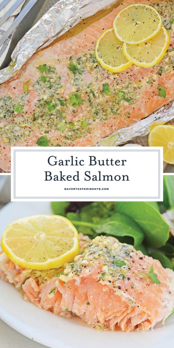 garlic butter baked salmon for pinterest