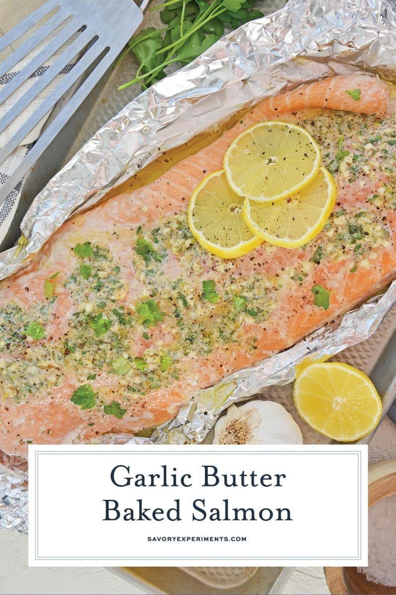 garlic butter salmon for pinterest