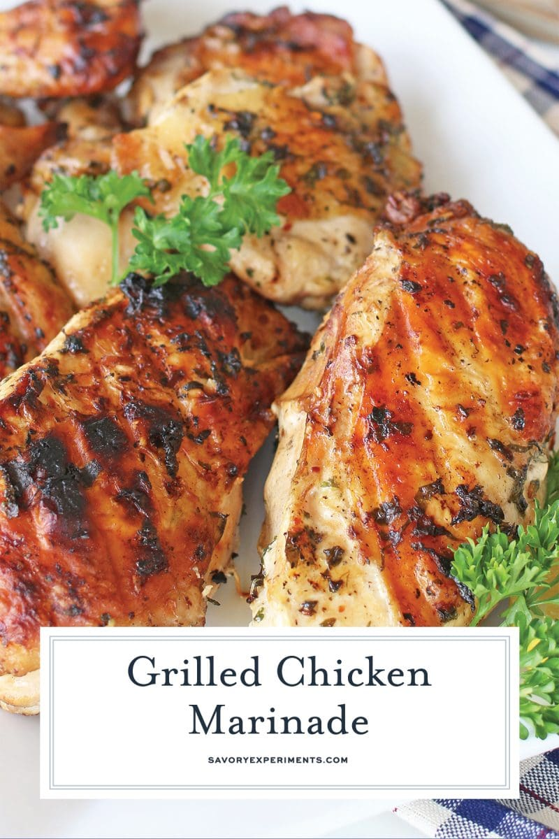 close up of grilled chicken