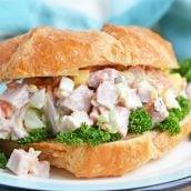 angle of ham salad sandwich
