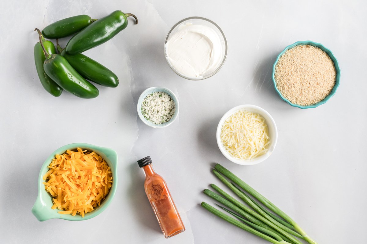 ingredient for making baked jalapeno poppers