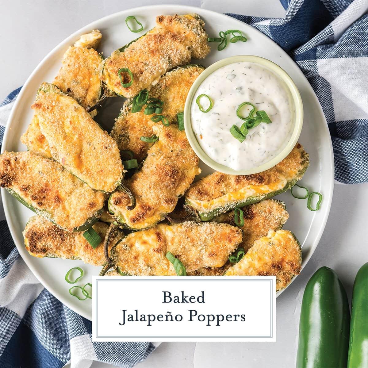 platter of baked jalapeno poppers