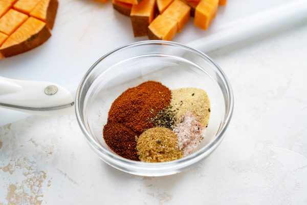 seasonings in a small glass bowl