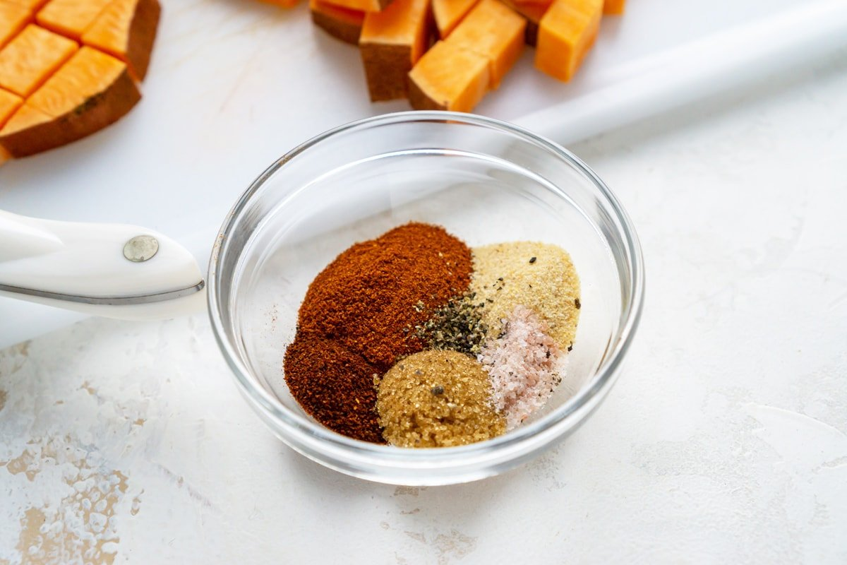spice blend in a small glass bowl